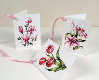 botanical gift tags