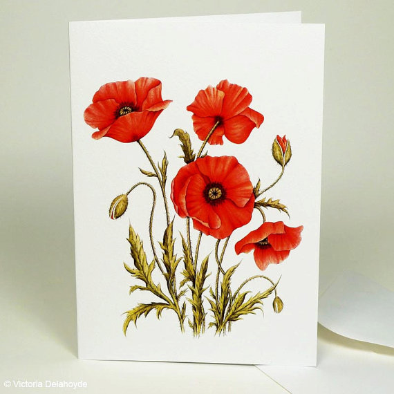Poppy painting card